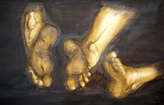 voeten in omber